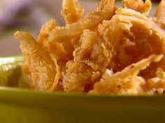 Fried Onion Strips Recipe : Sunny Anderson : Food Network - FoodNetwork.com
