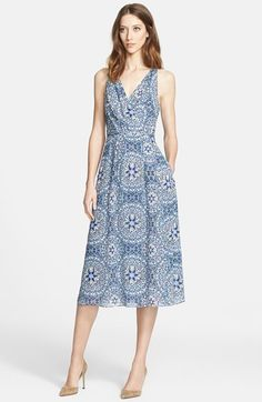 Nordstrom Signature and Caroline Issa Airy Print Chiffon Dress available at #Nordstrom