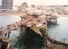 West Pier, Brighton: The Pier closed in 1975 and by the time this photo was taken, was a crumbling ruin