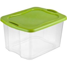 Lime 70 QT EZ Carry Sterilite Storage Units Set of 6 See Through Base Easy Carry #Sterlite