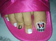 ❤💅❤ Pretty Toe Nails, Pretty Toes, Fun Nails, Toe Nail Designs, Manicure, Nail Polish, Nail Art, Tattoos, Chic Nails