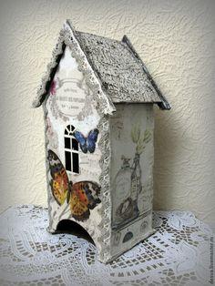 """Кухня ручной работы. Ярмарка Мастеров - ручная работа. Купить чайный домик """"Мелодия из бабочек"""". Handmade. Белый, прованский стиль"""