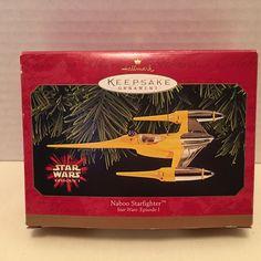 1999 Hallmark Star Wars Episode 1 Naboo Starfighter Keepsake Ornament NIB New