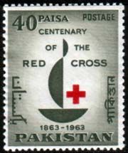 Pakistan Stamps 1963 Red Cross Centenary Fine Mint SG 187 Scott 179 Other Asian and British Commonwealth Stamps HERE!