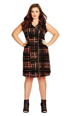 Plus Size Fire Up Dress - City Chic