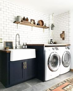 Image result for farmhouse sink laundry room