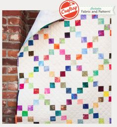 Candy Squares Quilt Kit Designed by Nancy Smith exclusively for Craftsy, Candy Squares couldn't be a simpler quilt to make! All nine patches are stitched with ease. With a 100-pc charm pack and 3 yards of Kona Snow included in this kit, you'll use nearly everything in this one quilt.  http://www.craftsy.com/supplies/candy-squares-quilt-kit/3171?_ct=iuqhsx-kdyluhiqb-huikbj-ixef&_ctp=3171