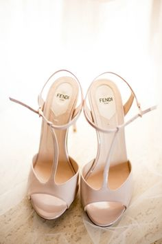 Nude Fendi Heels, Wedding Shoes URBAN GOLD & PURPLE FALL WEDDING www.elegantwedding.ca