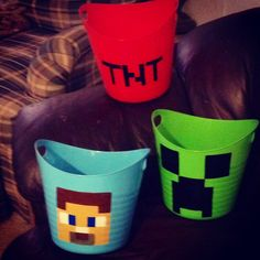 #minecraft #baskets I painted! #diy