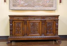 ~ Large Antique Italian Renaissance Carved Sideboard, Cabinet, Buffet ~ ebay.com