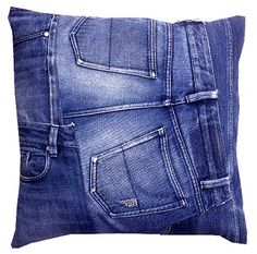 Back of pillow ideas Only Jeans, Love Jeans, Jean Diy, Denim Decor, Blog Couture, Denim Ideas, Denim Crafts, Recycled Denim, Denim Fashion