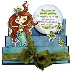 Mermaid Kiddo by Wendy Price by Stampendous, via Flickr - so sweet you just want to swim with her!