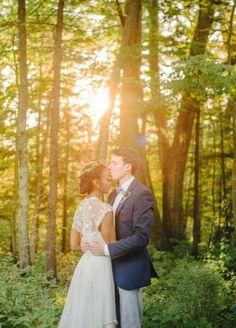 regina + rob | Lita Wedding Gown by Catherine Deane for @BHLDN | #BHLDNbride