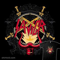 """""""Our Savior"""" by Getsousa Hellboy in the style of Slayer Our Savior, Thrash Metal, Indie, Darth Vader, Stickers, Fictional Characters, Shirts, Ideas, Drawings"""