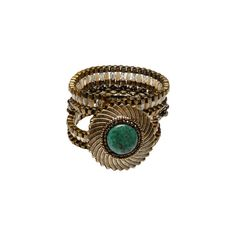 Hand-Beaded Vintage Cuff found on Polyvore