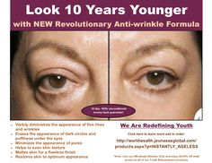 Look younger in minutes with our NEW revolutionary product Instantly Ageless with minerals and breakthrough peptide blend. Learn and order at http://www.fillinitink.jeunesseglobal.com/