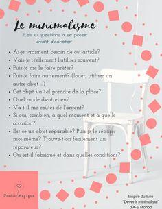 Das Wesentliche des Minimalismus in einer Form Journal Organization, Home Organisation, Organization Hacks, Idaho, Flylady, Mini Ma, Konmari, Pinterest Blog, Hygge