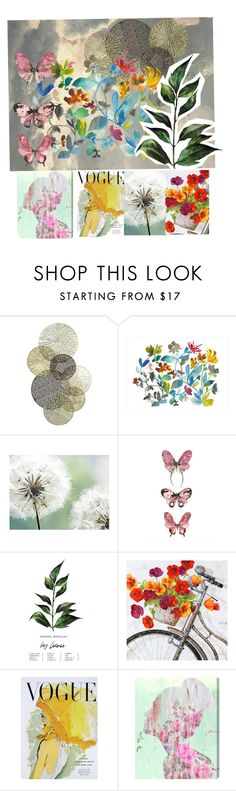"""""""Vouge Color"""" by miz-watermelon on Polyvore featuring Universal Lighting and Decor, Dot & Bo, Ballard Designs, Art for Life and Oliver Gal Artist Co."""