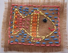Drawing with String and Wool - Claudia School Art Projects, Sewing Projects For Beginners, Art Du Fil, Hand Made Greeting Cards, Paper Weaving, Burlap Crafts, Sewing Lessons, Camping Crafts, Baby Art