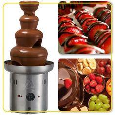 Que tal frutas com chocolate? Qual que combina melhor? Morango, banana, uva...? Cascata profissional, só na loja da Distribuidora Primavera! Compre já a sua!!  http://www.distribuidoraprimavera.com.br/loja/produto/CASCATA-PROFISSIONAL-CHOCOLATE-MARCHESONI.html