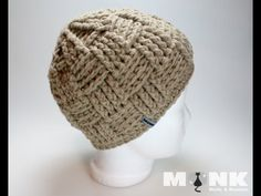 ▶ Crochet Monk - Basketweave Beanie (english) - YouTube