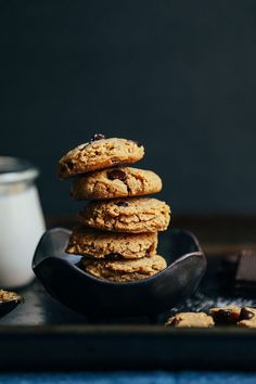 AMAZING Almond Butter Chocolate Chip Cookies !!