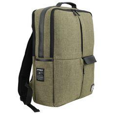 Khaki Green Canvas Casual School Backpacks http://bit.ly/1EeVYa3 #mensfashion
