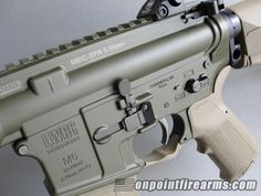 LWRC M6 IC SPR Rifle for Sale w/ Olive Drab OD Cerakote and FDE Furniture 5.56mm | On Point Firearms