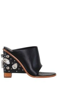 Britt Crystal Mule Wedge