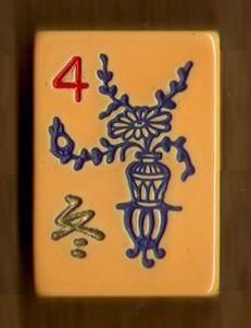 Mah Jongg Flower tile