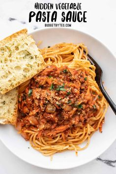 Give your spaghetti an upgrade with this hidden vegetable pasta sauce that contains a medley of vegetables plus extra herbs and spices for maximum flavor. BudgetBytes.com