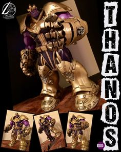 "L&A's Customs - .....it is done! Thanos aka ""The Harbinger of Death"" aka ""The Mad Titan"" is complete. This guy is extra special to us because he is our 100th custom. We started L&A's back in 2013 and this guy is the culmination of our growth through the past 3 years. #louandaidens #louandaidenscustoms #customactionfigures #WIP #customizing #thanos #themadtitan #marvel #marvelcomics #marvellegendscustoms"