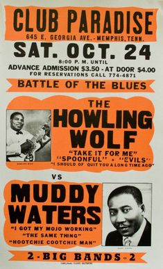1970 Muddy Waters / Howlin' Wolf poster