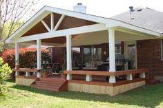 best covered patio design ideas Small patio decks, deck with covered porch design ideas . Porch Roof Design, Patio Roof, Back Patio, Backyard Patio, Patio Decks, Wood Decks, Small Patio, Diy Deck, Porch Designs