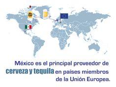 México es el principal proveedor de cerveza y tequila en países miembros de la Unión Europea. SAGARPA SAGARPAMX