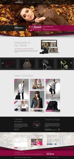 Fashion Shop Responsive WordPress Theme - #wordpress #theme #template #responsive #design #webdesign #fashion #style
