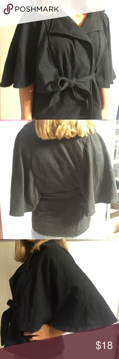 Belted Cape Jacket by LA Kitty High Fashion look. Winged sleeves. Love this! Only wish it still fit! 4 snaps and belt to close L.A. Kitty Jackets & Coats Capes