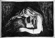 Vampire II - (Edvard Munch)