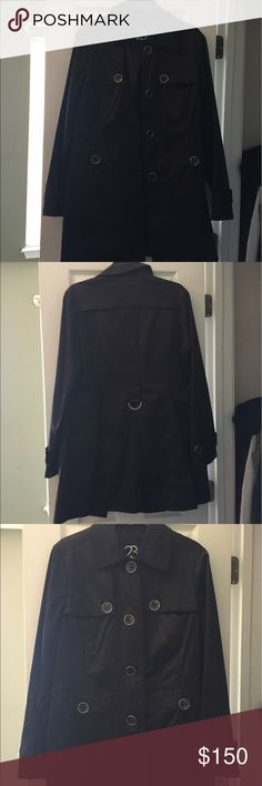 Trench coat 23rd ST leather Trench coat. Worn once. Like new. Jackets & Coats Trench Coats