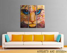 Tiger Pinting Eyes Oil Painting  ORIGINAL Oil by AshleysArtStudio