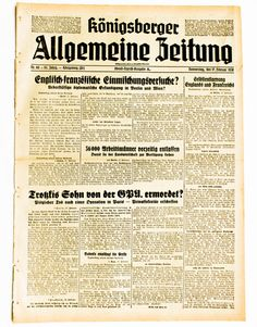 1938 Russian Secret Service agents kill Trotsky s son Koenigsberg newspaper