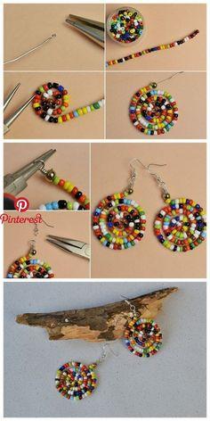 Picture about miyuki vav - Ohrringe - . - miyuki vav ile ilgili görsel s – Ohrringe – Picture ab - Seed Bead Earrings, Beaded Earrings, Seed Beads, Statement Earrings, Hoop Earrings, Bugle Beads, Pendant Earrings, Bead Jewellery, Beaded Jewelry