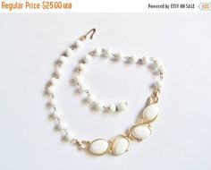 50% Off Vintage Choker Glam White Beads White by YoursOccasionally
