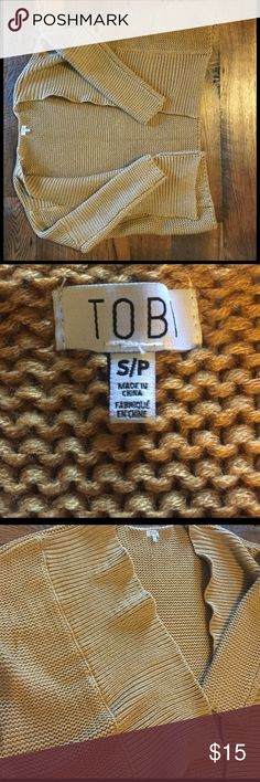 Tobi cardigan Dark gold Tobi sweater- no tags, never been worn Tobi Sweaters Cardigans