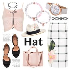 """""""Top It Off: Summer Hats"""" by christianpaul ❤ liked on Polyvore featuring Ted Baker, Topshop, Miss Selfridge, Corto Moltedo, Sensi Studio, contestentry, summerhat and christianpaulwatches"""