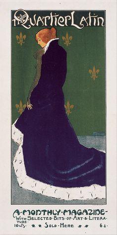 The Quartier Latin (1897). Poster design by Henry Guy Fangel.    Museu Nacional d'Art de Catalunya  Google Art Project: Homevia Wikimedia