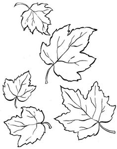 Alla Terpugova | VK Pumpkin Coloring Pages, Fall Coloring Pages, Animal Coloring Pages, Wool Applique Patterns, Embroidery Patterns, Leaf Template Printable, Maple Leaf Template, Maple Leaf Drawing, Tree Stencil