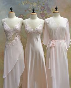Arriving soon at A Beautiful Touch, is the most exquisite collection of short and long Bridal peignoir sets for the upcoming Spring 2010 sea. Wedding Night Lingerie, Honeymoon Lingerie, Bridal Lingerie, Vintage Lingerie, Women Lingerie, Lingerie Outfits, Lingerie Sleepwear, Pretty Lingerie, Beautiful Lingerie