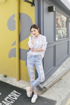 Seoul of my heart model post fashion, korean fashion и tatte Korean Fashion Summer Casual, Korean Fashion Work, Korean Fashion Ulzzang, Korea Fashion, Korean Outfits, Asian Fashion, Look Fashion, Daily Fashion, Girl Fashion