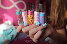 baby lips.♡ I have 2 of the neon ones a mint one a pink punch one and the quenched one :)